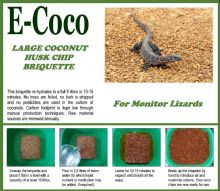 MONITOR LIZARD SUBSTRATE BRIQUETTES